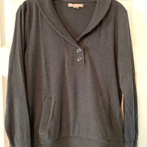 Gray Banana Republic sweater jacket